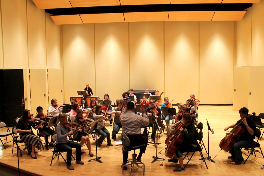 The+newly+named+Mercyhurst+Civic+Orchestra+under+the+baton+of+Jonathan+Moser.+