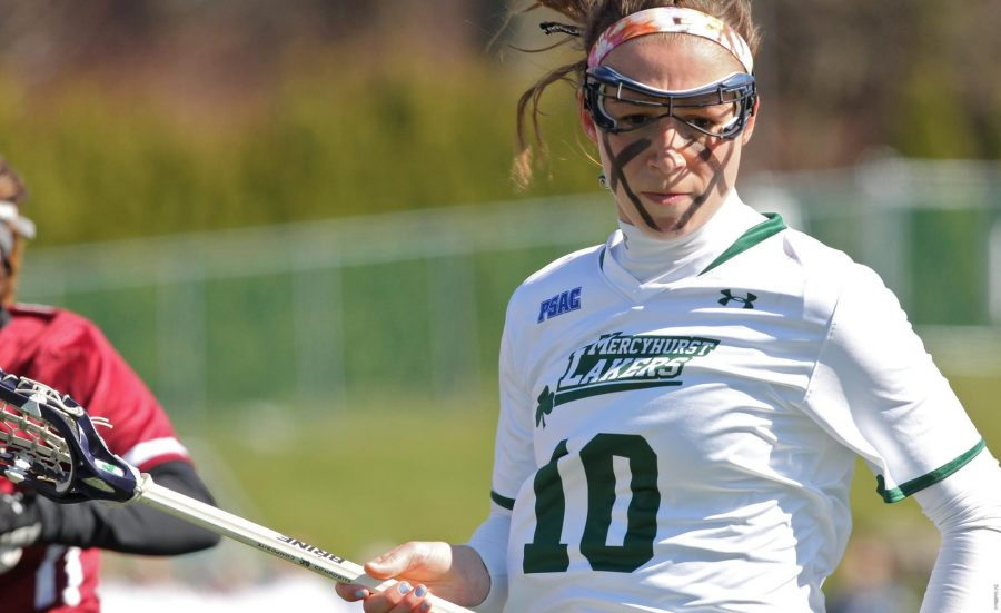 Senior Carly Zimmerman had six goals and two assists for eight points in the 21-16 win over Gannon that saw nine Lakers score at least one goal and 10 receive a point for their actions.