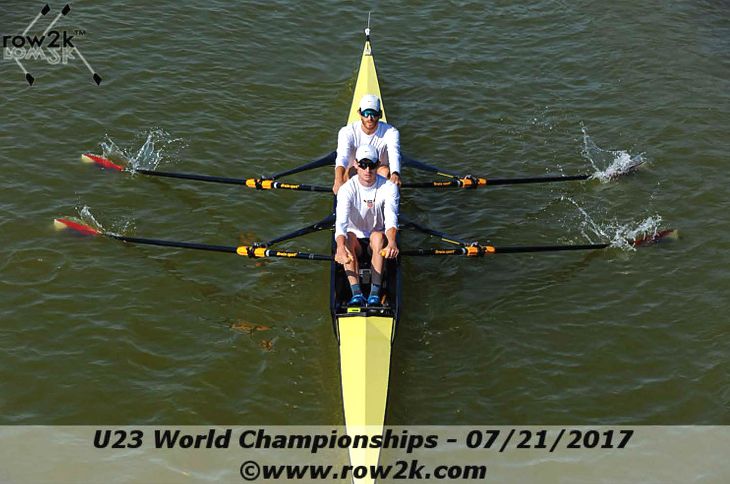 Rowing captains Galen Bernick and Danny Madden race in the Under 23 Rowing Championship in July.