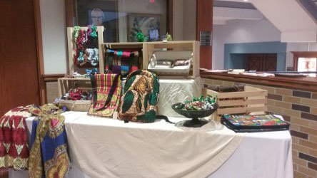 Items were available to purchase at the art gallery reception.