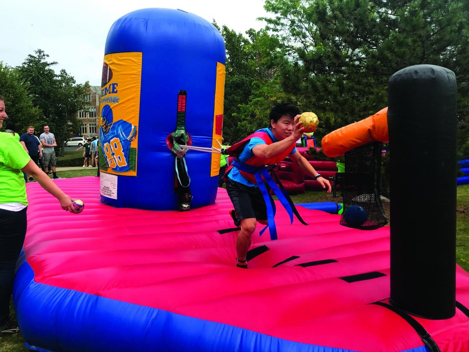 Hurst day was a roaring success, with a scavenger hunt, inflatable games and food.