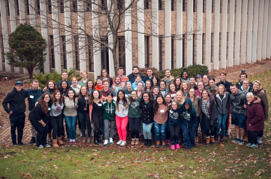 Students stayed at the Villa Maria Retreat Center for a weekend to participate in Carpe Diem 9.