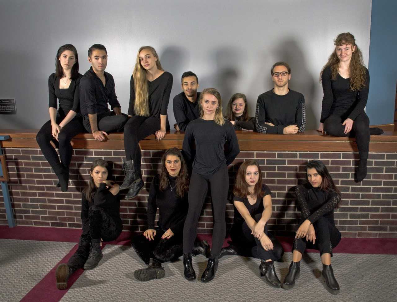 From left to right, top row: Grace Petron, Dominic Fortunato, Sarah Swanson, Lucas De Marinis, Megan Lay, Hunter Hoffman and Carrie VanOsten. Bottom row: Rachel Rhodanz, Niusha Karkehabadi, Sarah Taylor, Katherine Hotinger and Marcela Gomez Lugo