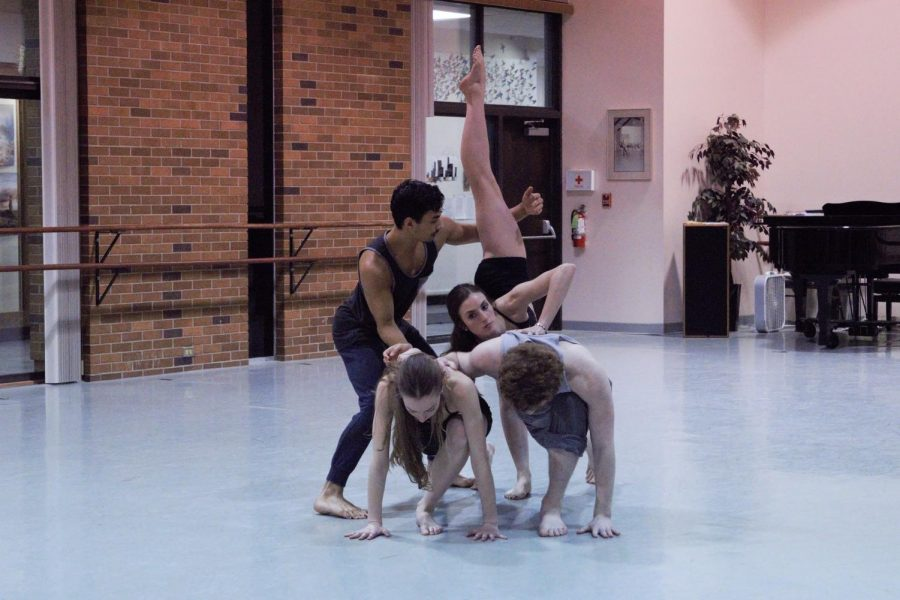 "Lucas De Marinis and cast rehearse his choreography for ""[   ]ography."""