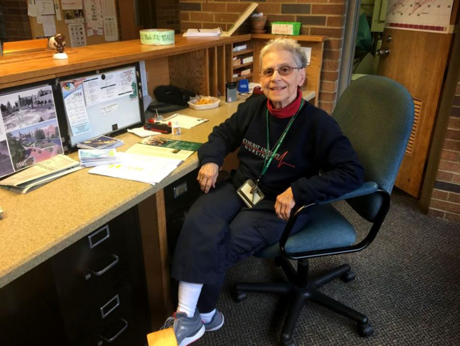 Sister Mary Paul Carioty, the beloved Baldwin desk clerk, will be honored along with Amy Danzer during Women's History Month.