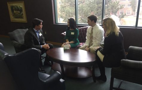 Trustees meet with students