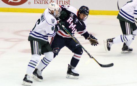 RMU stuns men's hockey