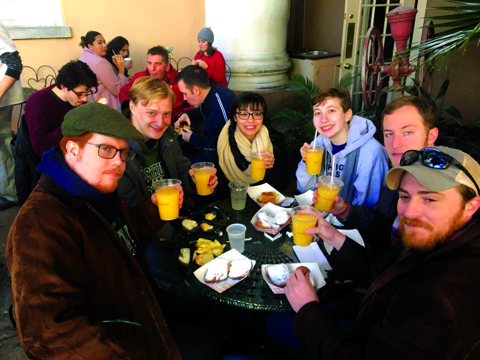 Several Mercyhurst students, along with Benjamin Scharff, Ph.D., had the opportunity to explore New Orleans while at a national history conference.
