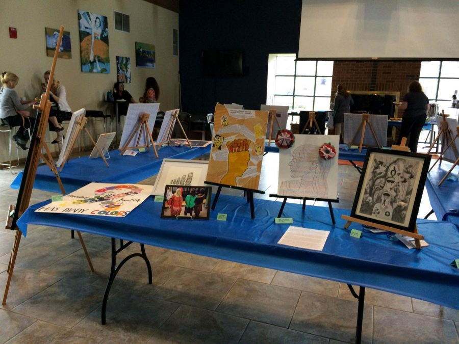 Visitors were encouraged to explore diversity-themed artwork and to connect with student artists at the Mosaic of Life art show, organized by the Cohen Health & Counseling Center and Art Therapy department.