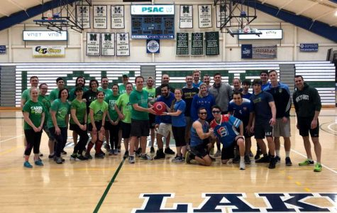 Seniors fall in kickball