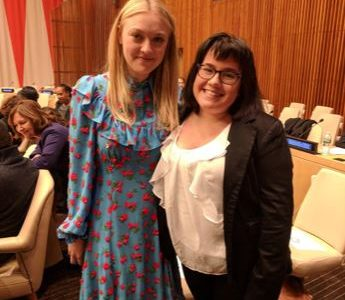 Student speaks at United Nations