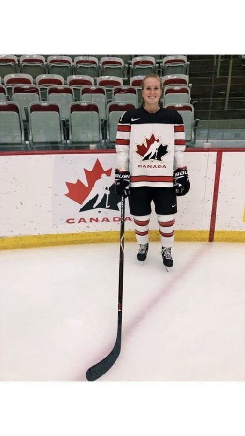 Alexa Vasko, a sophomore for the Lakers women's ice hockey team, had the opportunity to attend Hockey Canada's Development camp.