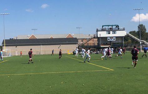 Men's soccer splits for two