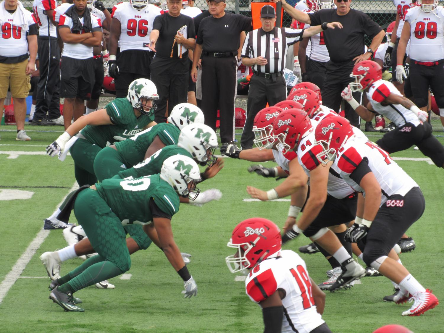 The Lakers' defense played an important role in Saturday's 24-6 victory over Edinboro University.  Laker defense accounted for four turnovers — three interceptions and a fumble.
