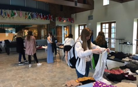 Students 'shop' for clothes  at Fashion Council's swap