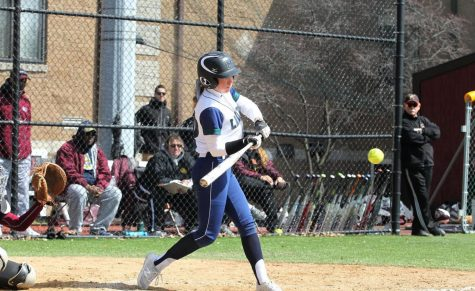 Freshman Madison Fry, shown here in a 2019 game against Gannon, led the Lakers to a 6-2 win against the University of the Sciences in Mercyhurst's second game of the Florida spring break trip.