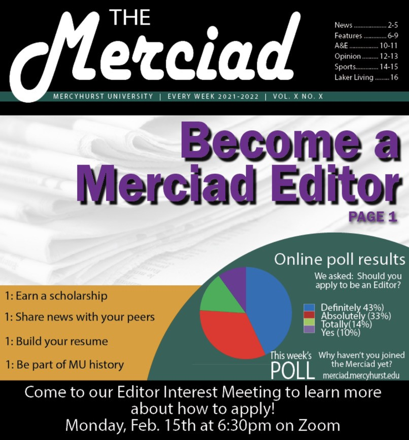 The Merciad seeks new editors to continue campus traditions
