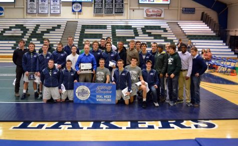 Athletic throwback: 2015 wrestling team wins third straight PSAC crown