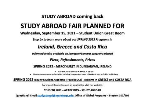 Study Abroad program to resume